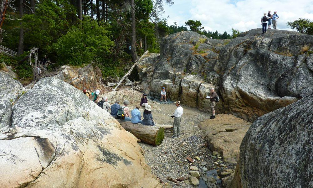 Granite bedrock, East Beach, Lighthouse Park