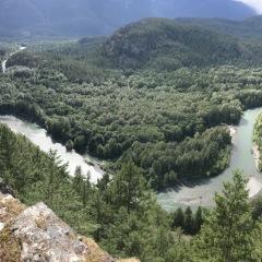 Cheakamus river below cliff