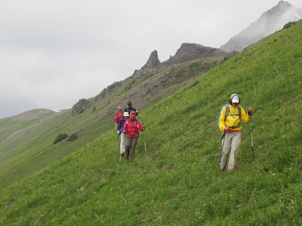 ©Janet Snell - Hiking from McGillivray col