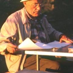 12 - Silver Cup Ridge 1987 - Bob Harris with maps