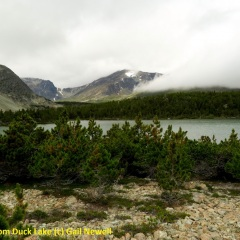 Cloud lifting from Duck Lake © Gail Newell
