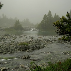 Crazy Creek in crazy weather © Gail Newell