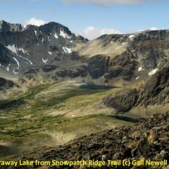 Faraway Lake from Snowpatch Ridge Trail © Gail Newell