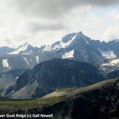 Mt Niut rising behind Goat Ridge Backcountry lake behind Goat-Ridge © Gail Newell